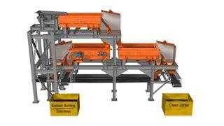 Potrójny separator wiroprądowy do przetwórstwa minerałów